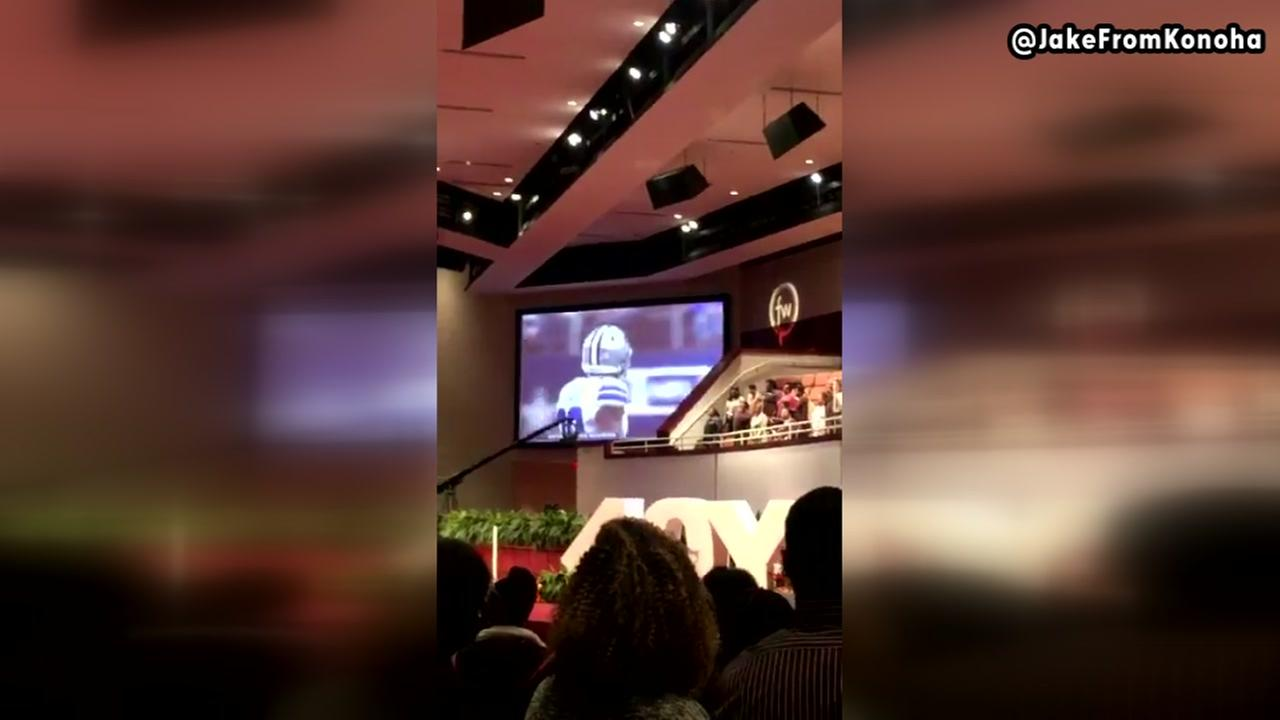 Dallas church plays Dallas game after services