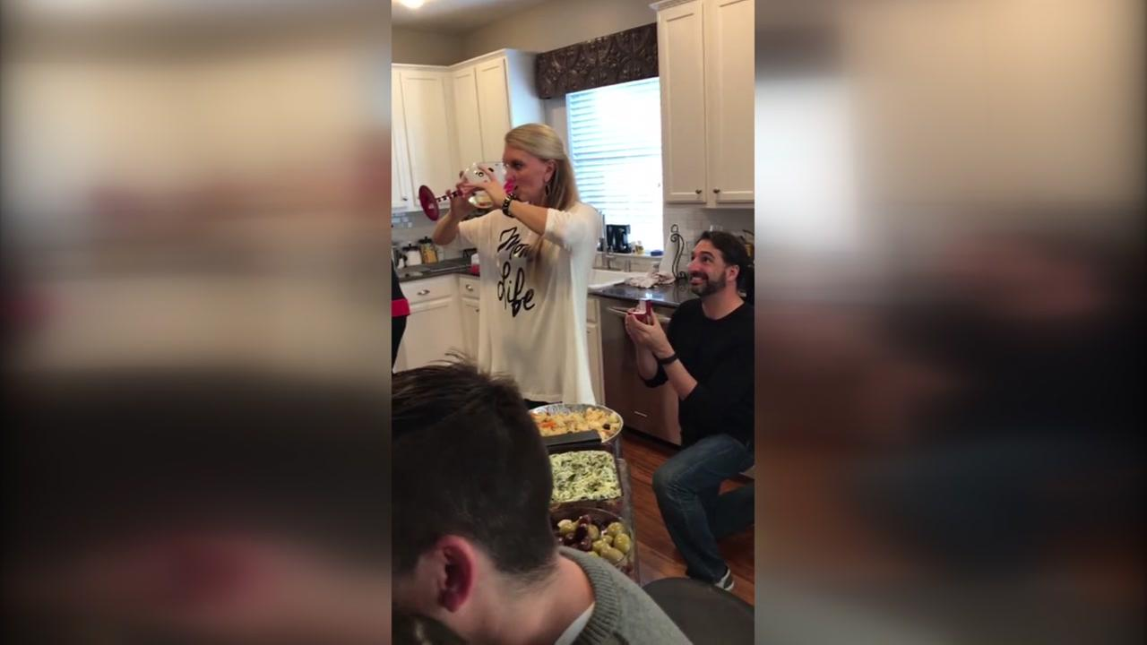 Mannequin challenge ends in surprise for one woman