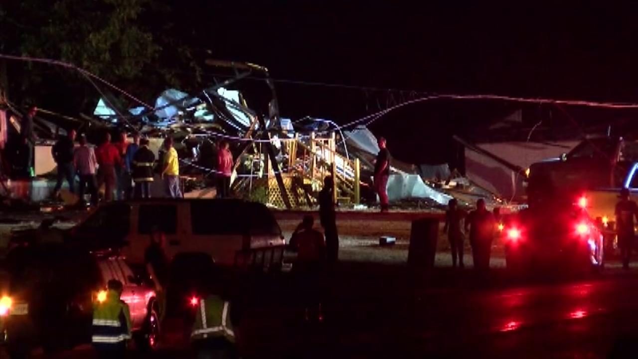 Possible tornado kills 3 in Alabama as storms cross South
