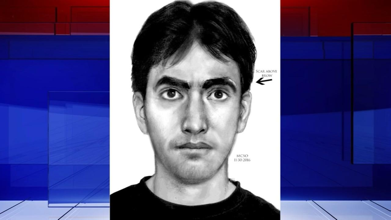 Sketch of suspect wanted in Montgomery County sexual assaults