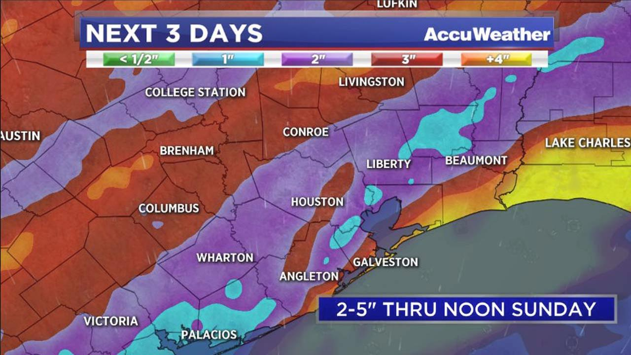 The Houston metro is in for a wet weekend with the possibility of area flooding.