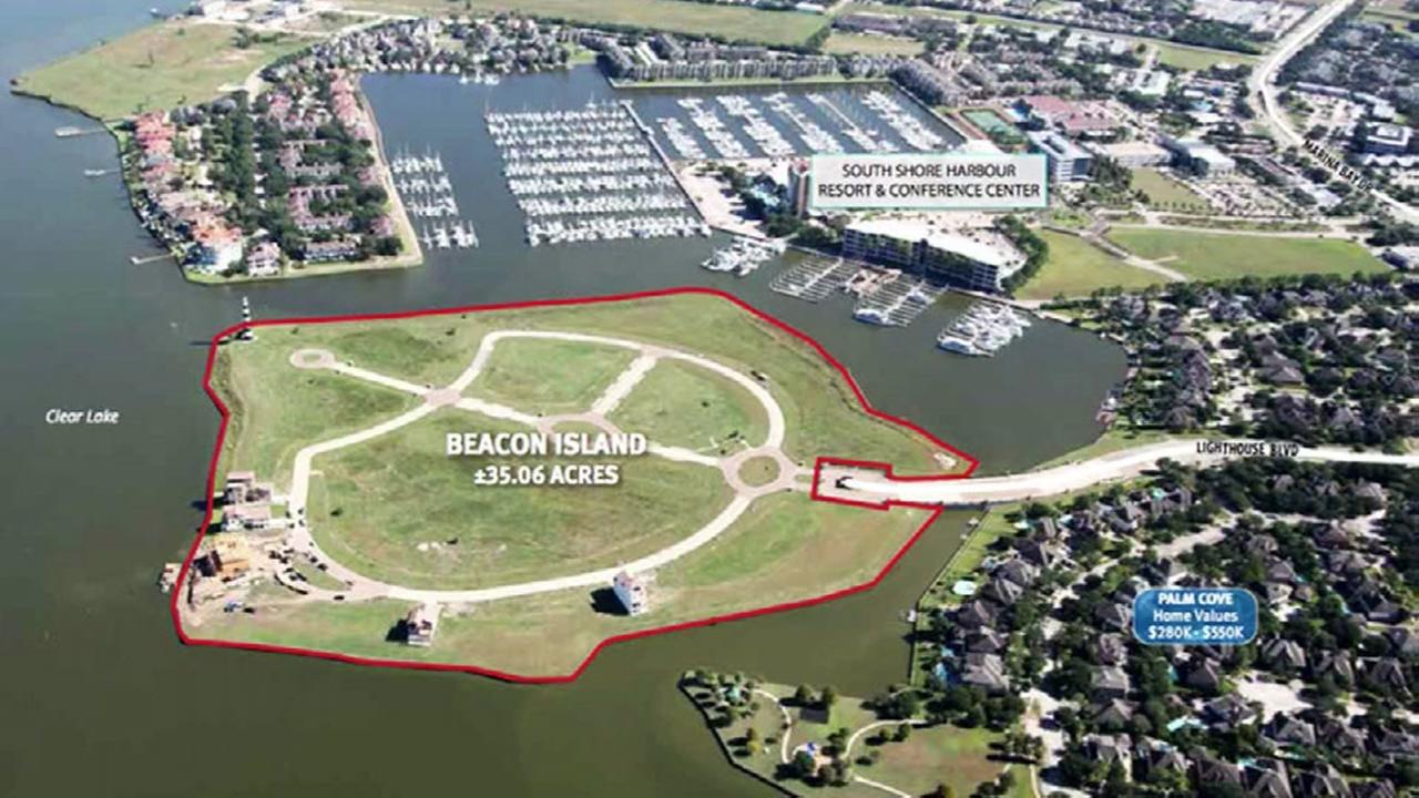 Man-made island on sale in League City