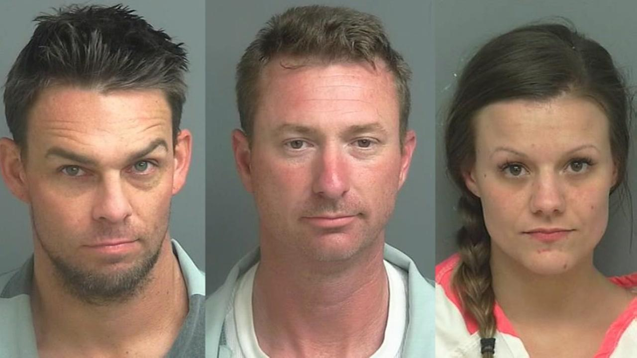 Three arrested, accused of stealing trailers, guns, riding lawn mowers