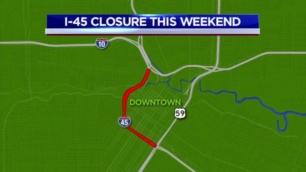 I-45 closing tonight