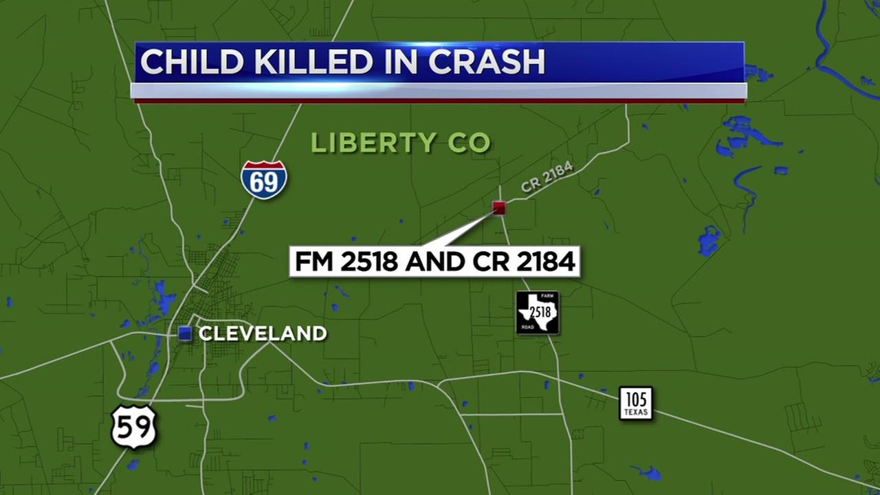 Child killed in head-on crash in Liberty County