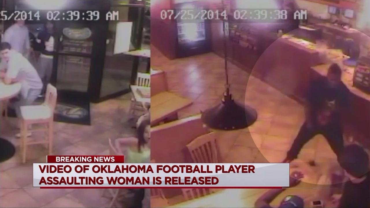 Video of OU player Mixon punching woman released