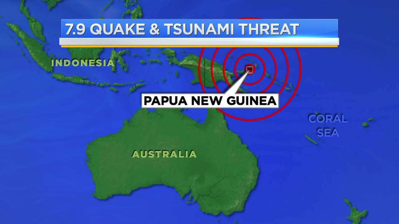 Powerful earthquake hits off Papua New Guinea