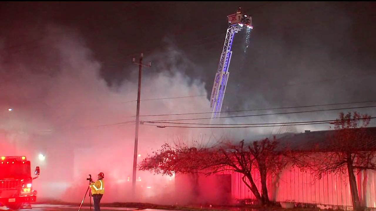 Firefighters battling warehouse fire in south Houston