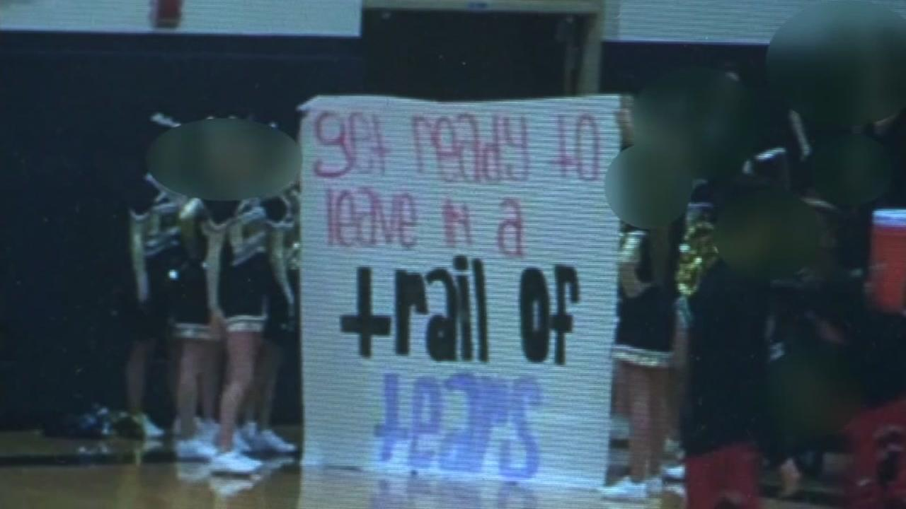 School apologizes after trail of tears sign