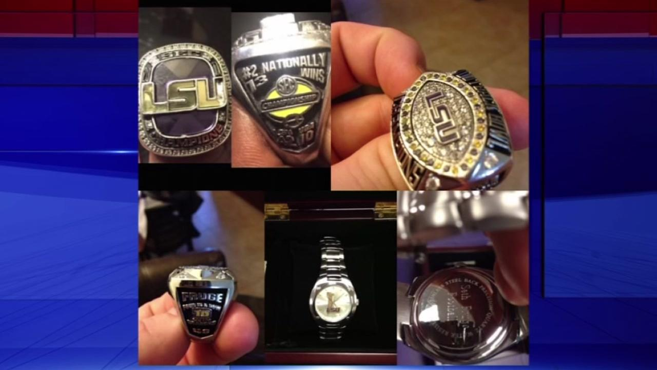 LSU football player robbed of his championship rings