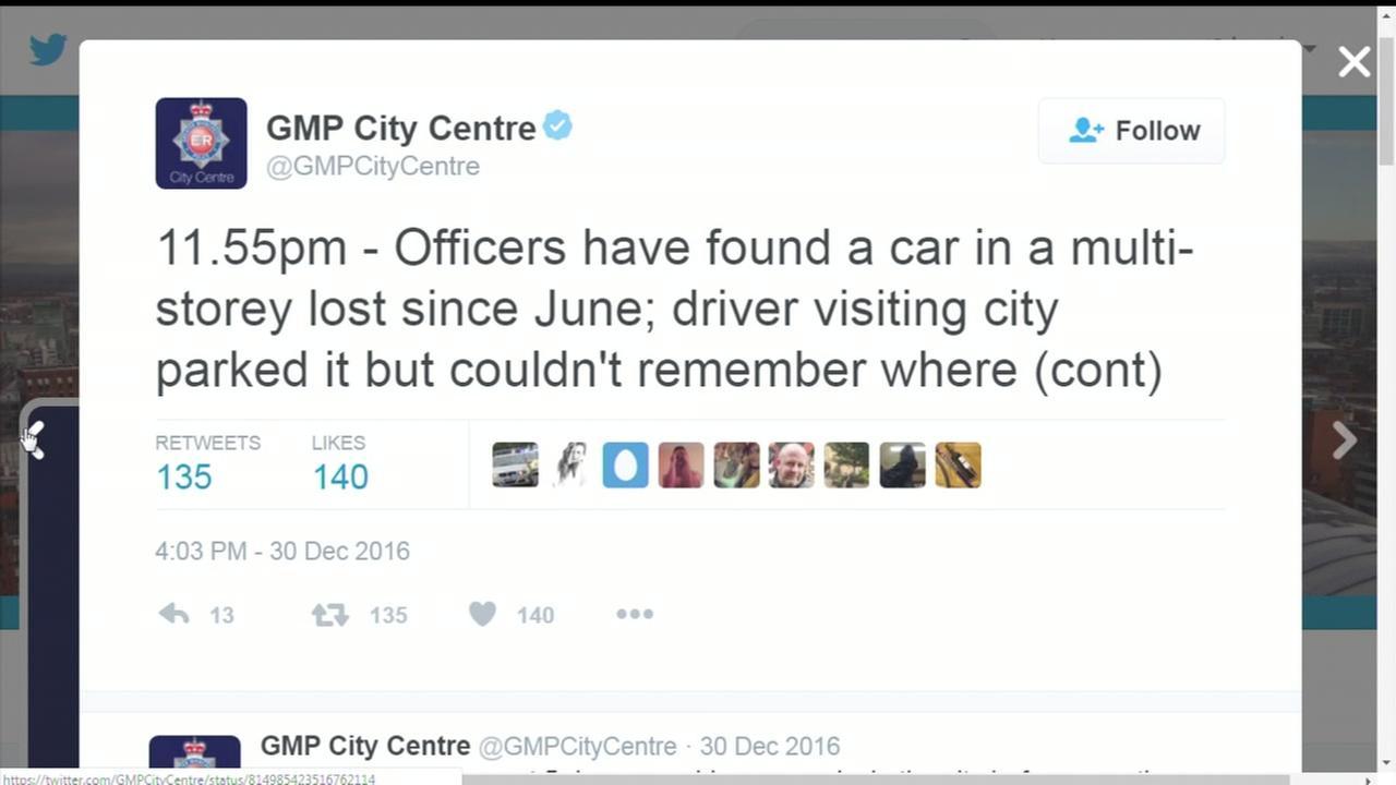 Lost car found after 6 months in parking garage