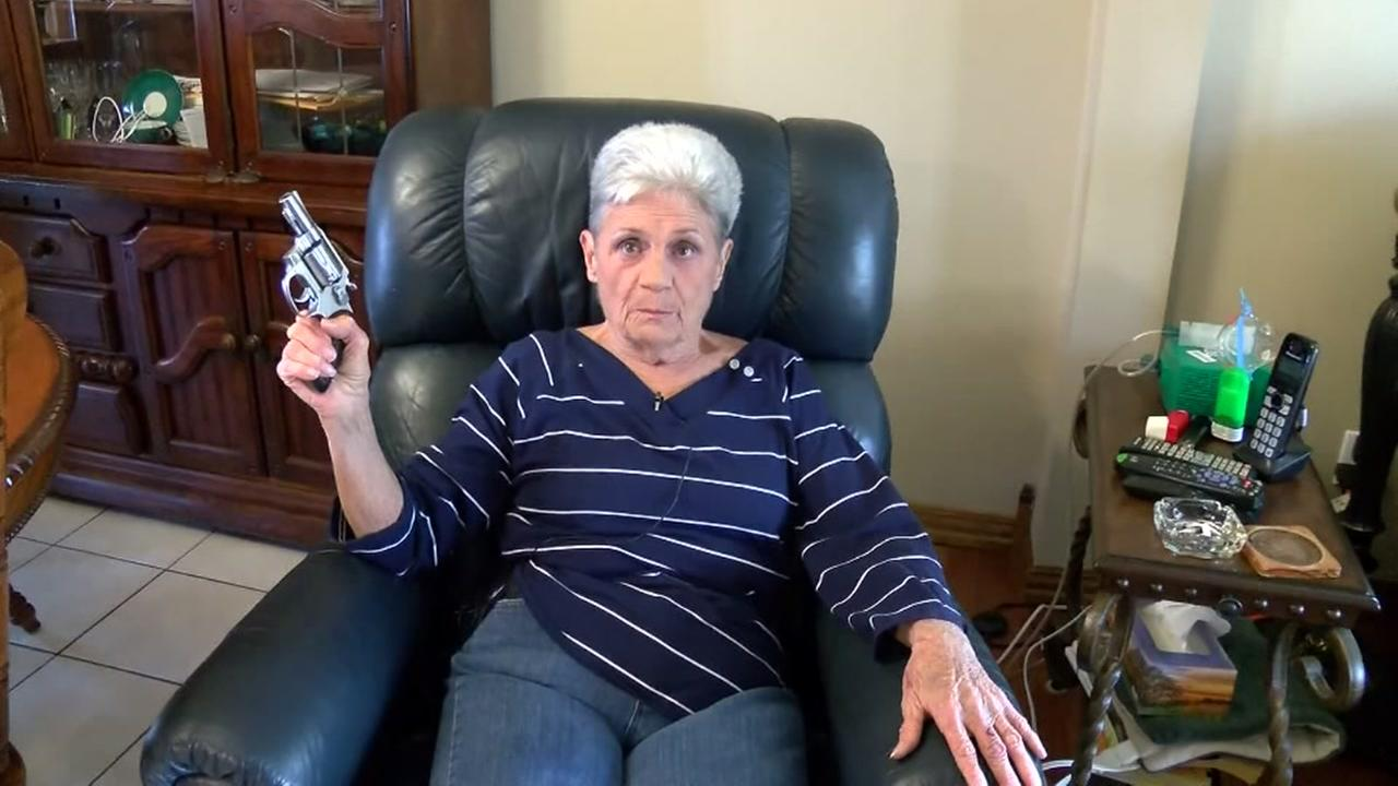 Pistol-packing granny scares off armed intruder