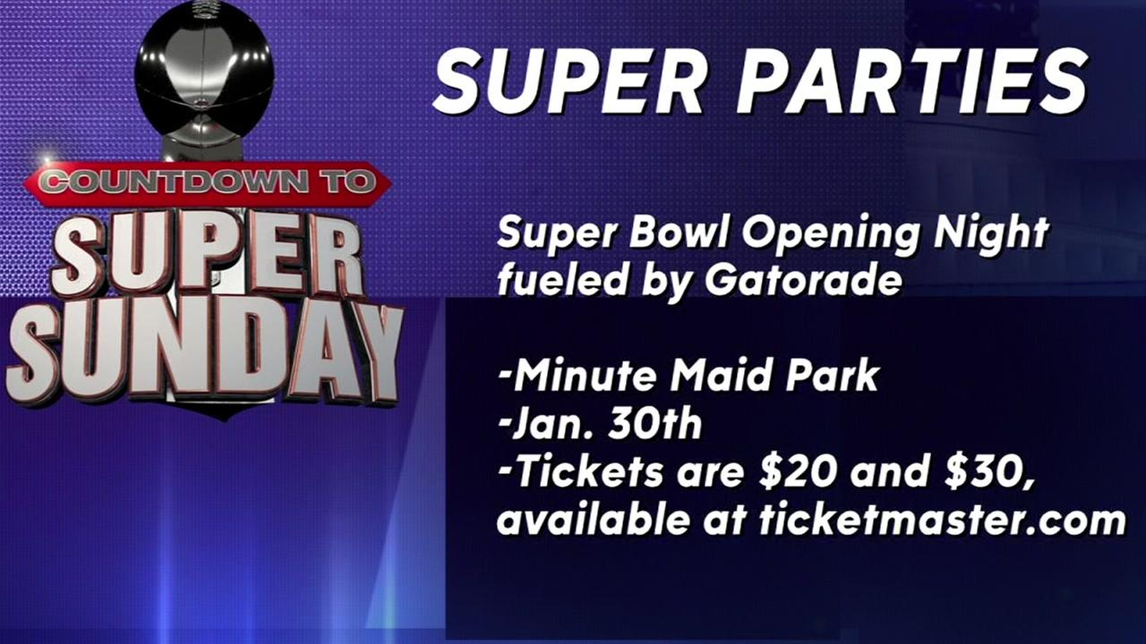 Super parties for Super Bowl week in Houston