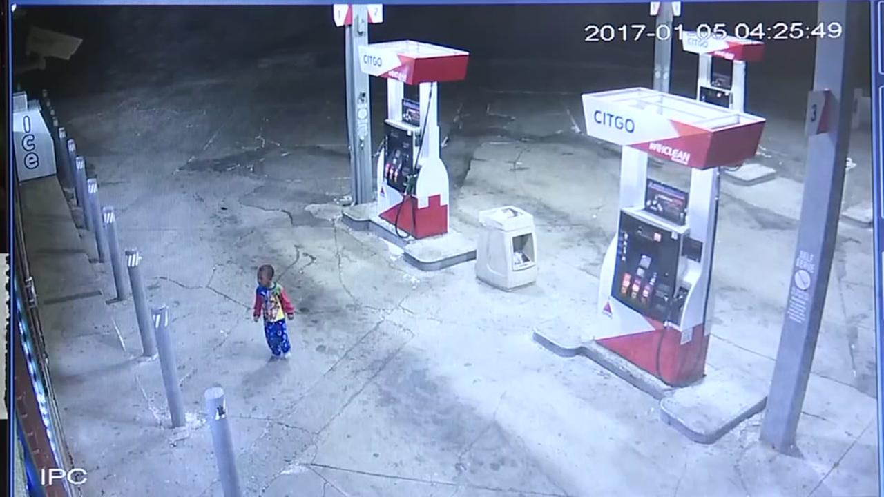 Wandering toddler caught on camera