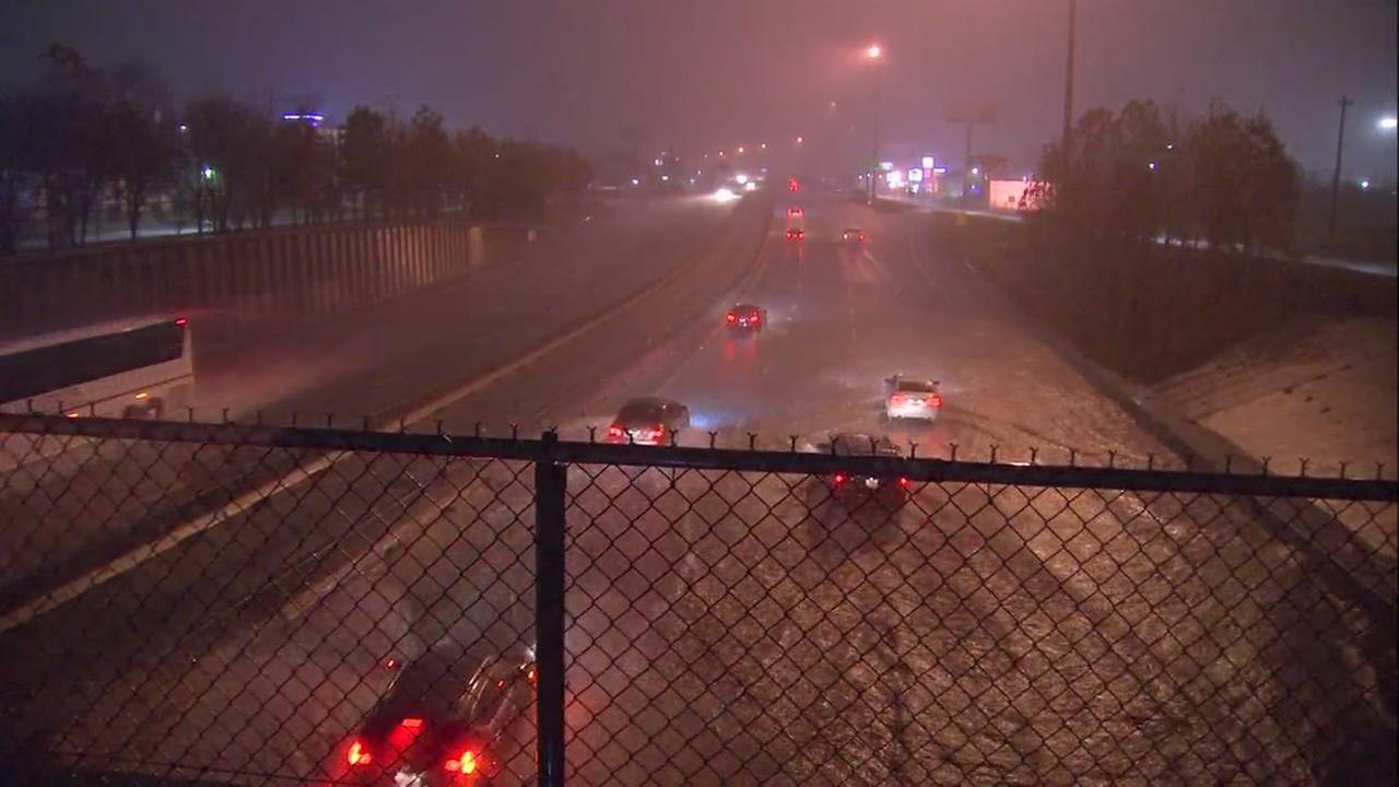 I-45 northbound street flooding at N. Main