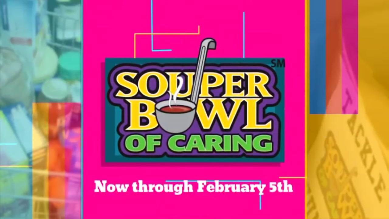 Tackle Hunger with Souper Bowl of Caring