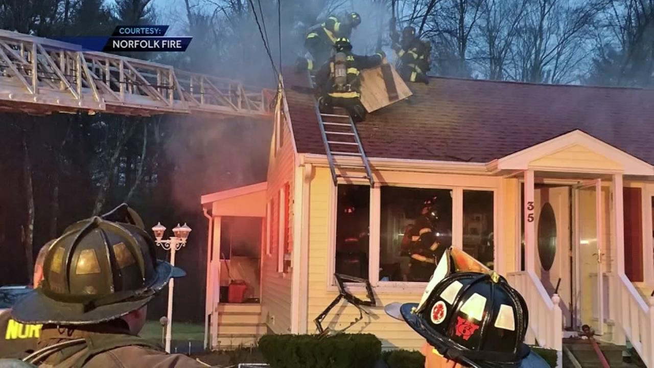 Man swings ax and set house on fire