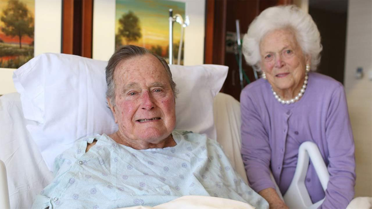 President and Mrs. Bush are thanking everyone for their prayers and good wishes during their hospital stay.