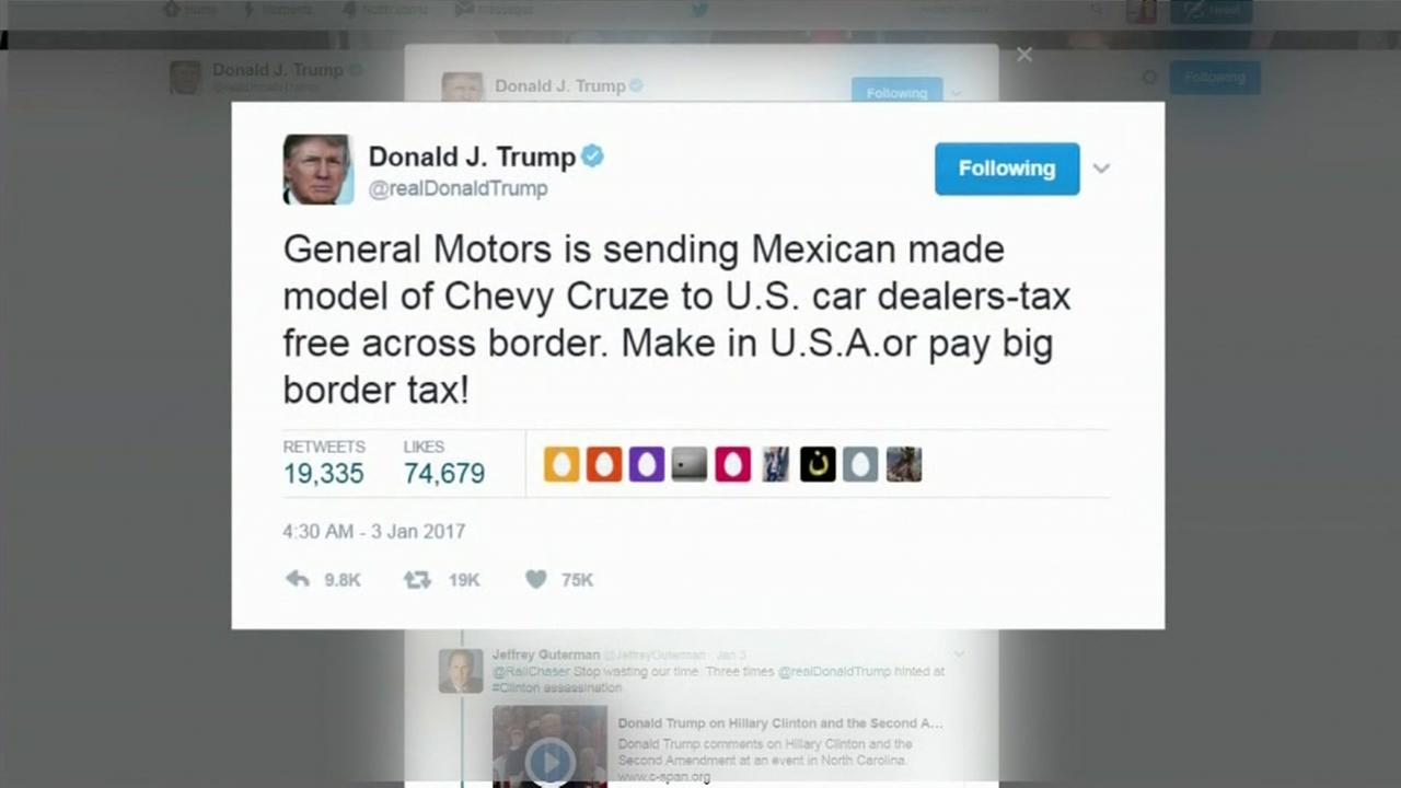 Company uses Trump's tweet to predict stock market