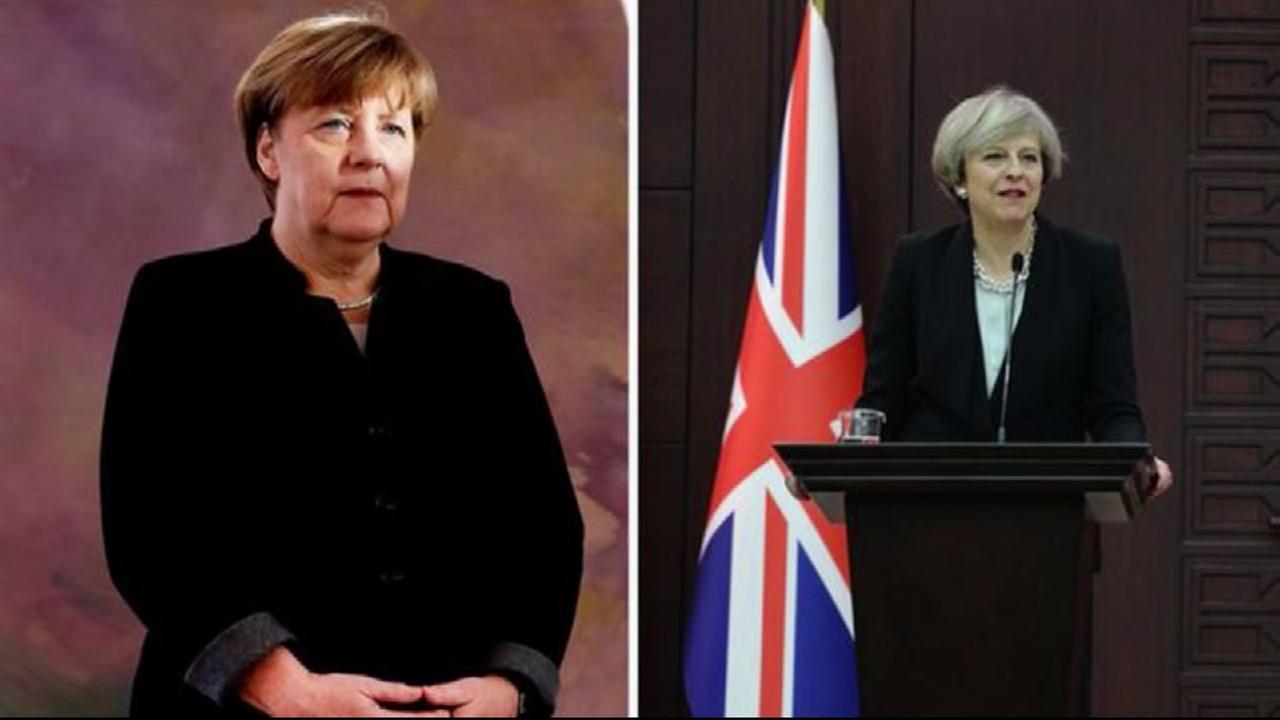 German, British leaders oppose Trumps travel ban