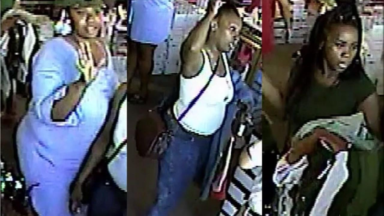 Police searching for three women who robbed store of clothes