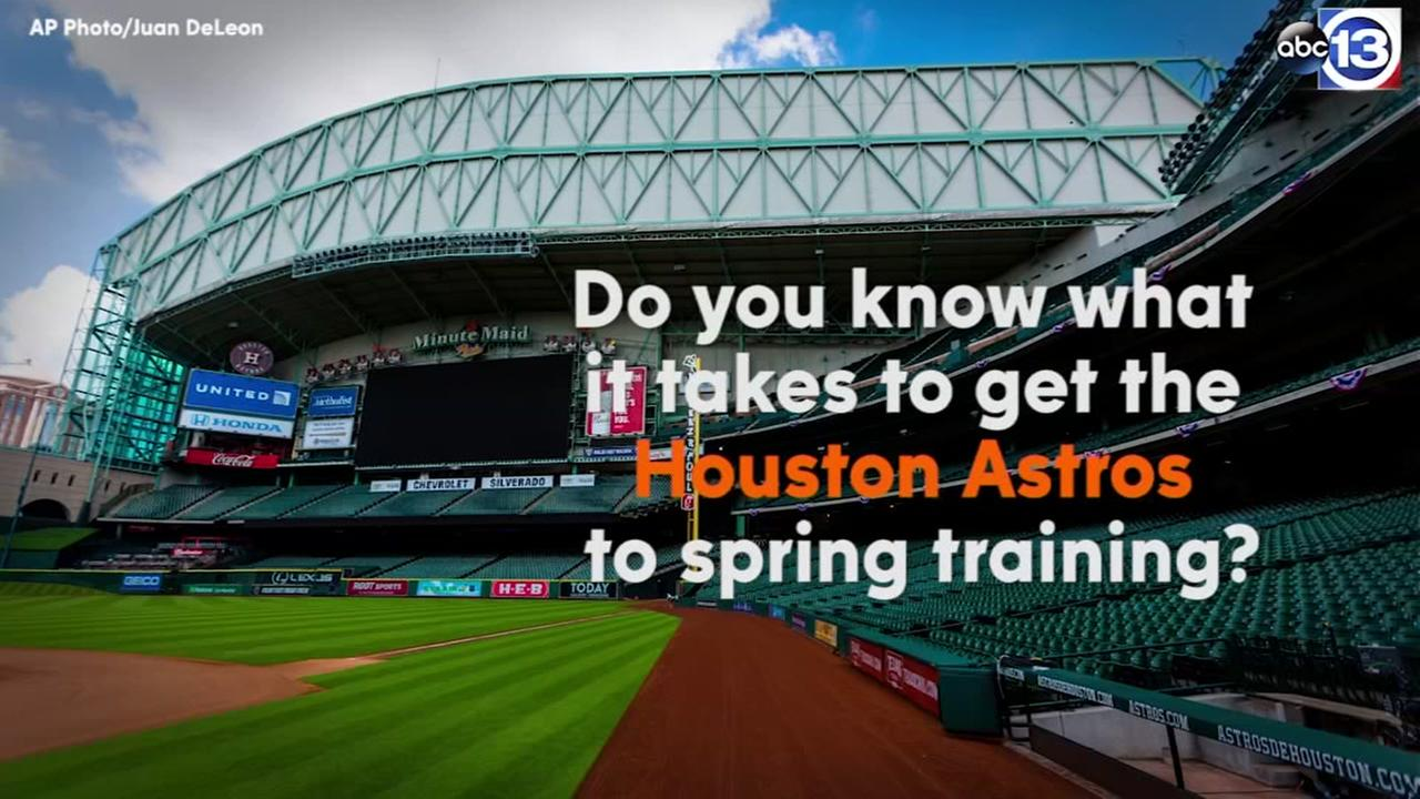 Astros Spring Training packing list