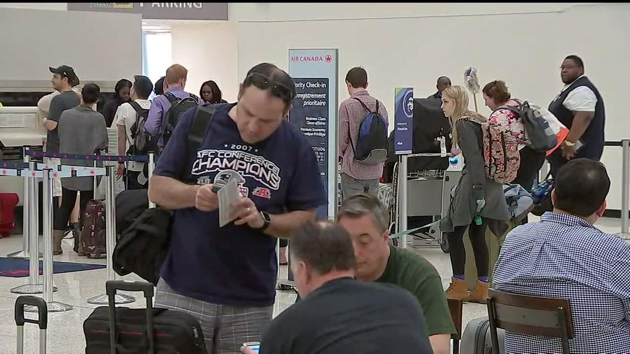 Busy travel day after Super Bowl Sunday