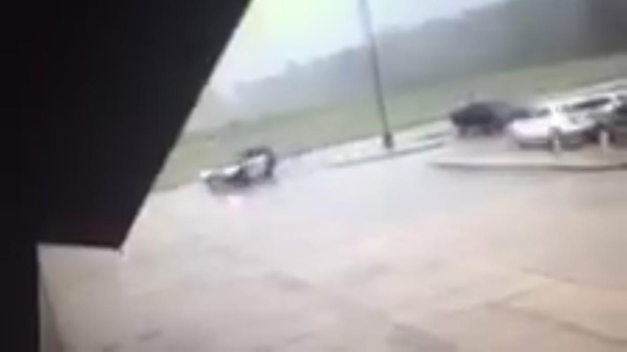Rosenberg officer has close call with tornado