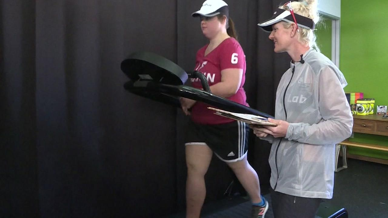 Woman with Down syndrome trains for Austin Marathon
