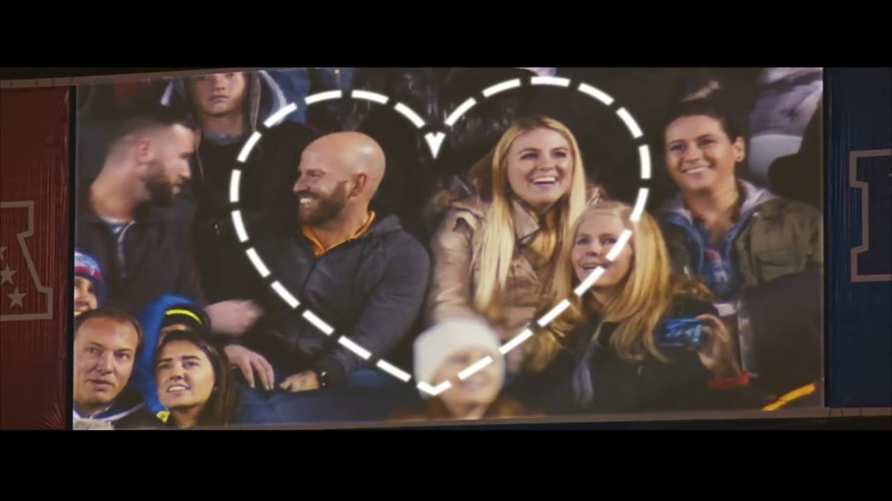 Pro Bowl kiss cam becomes powerful PSA