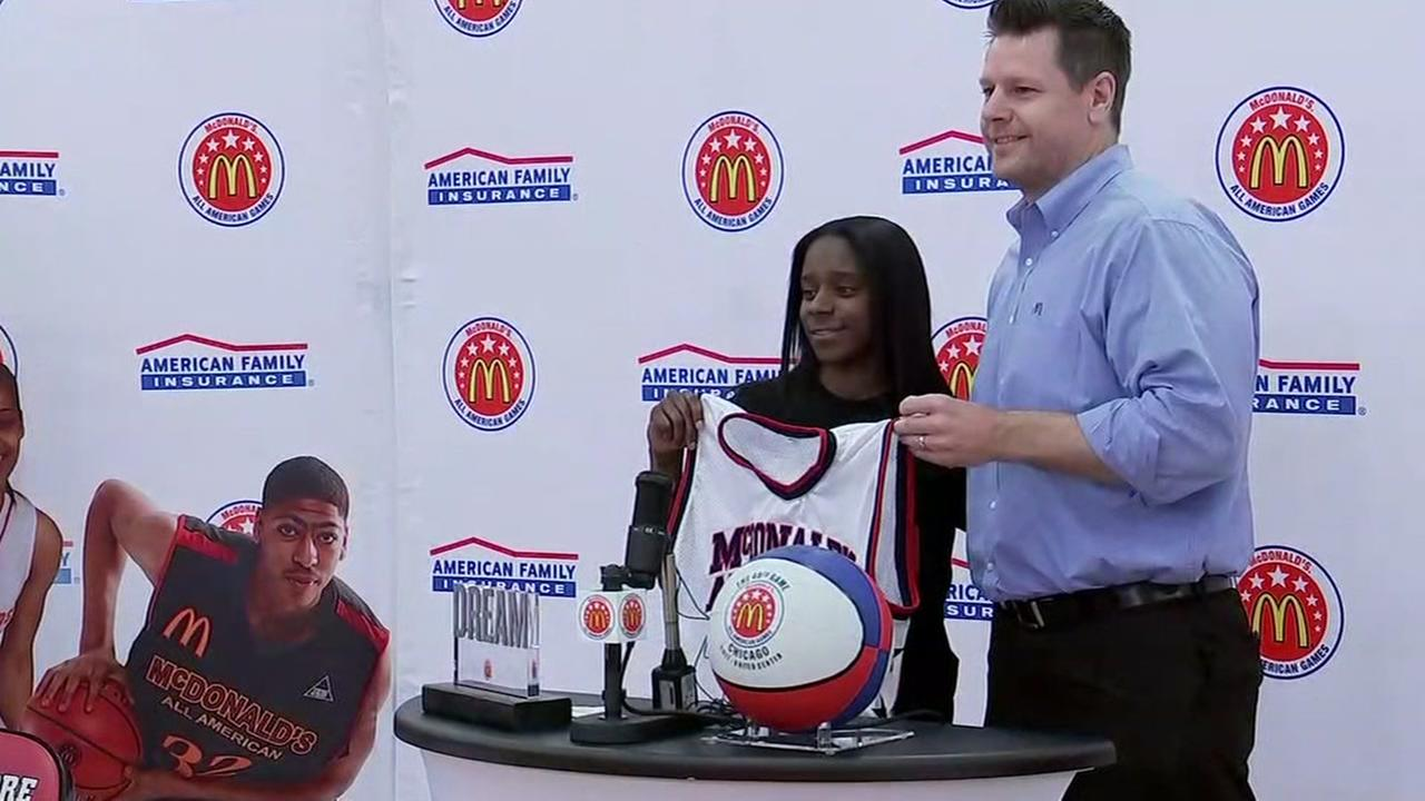 Chasity Patterson receives jersey