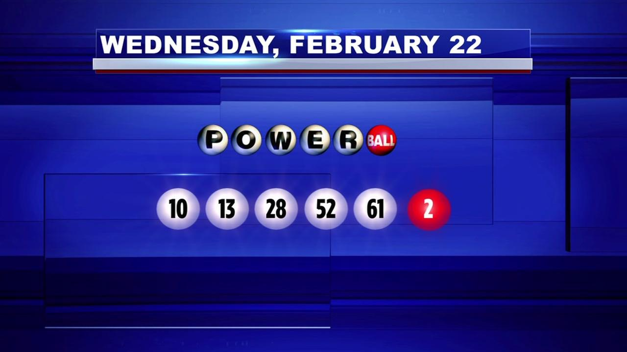 Winning numbers drawn for Powerball jackpot