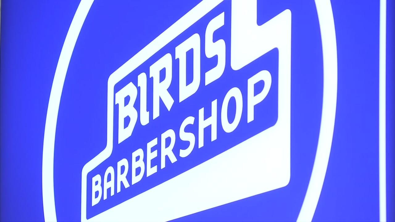 Take a dip in nautical Birds Barbershop