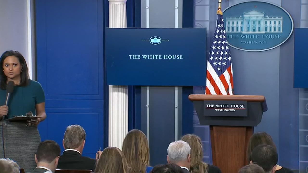 Some outlets blocked from White House media briefing