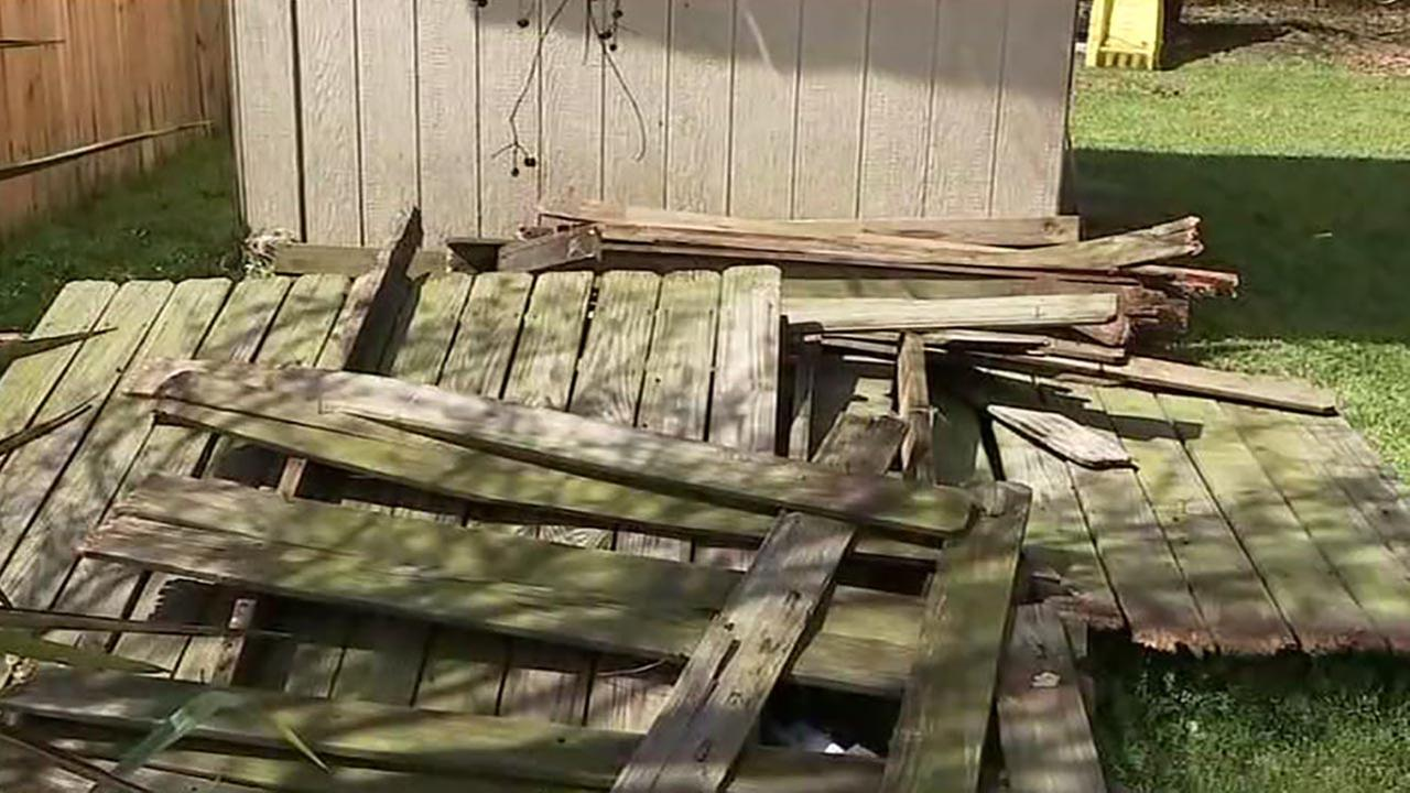Mom says neighbor knocked down her fence