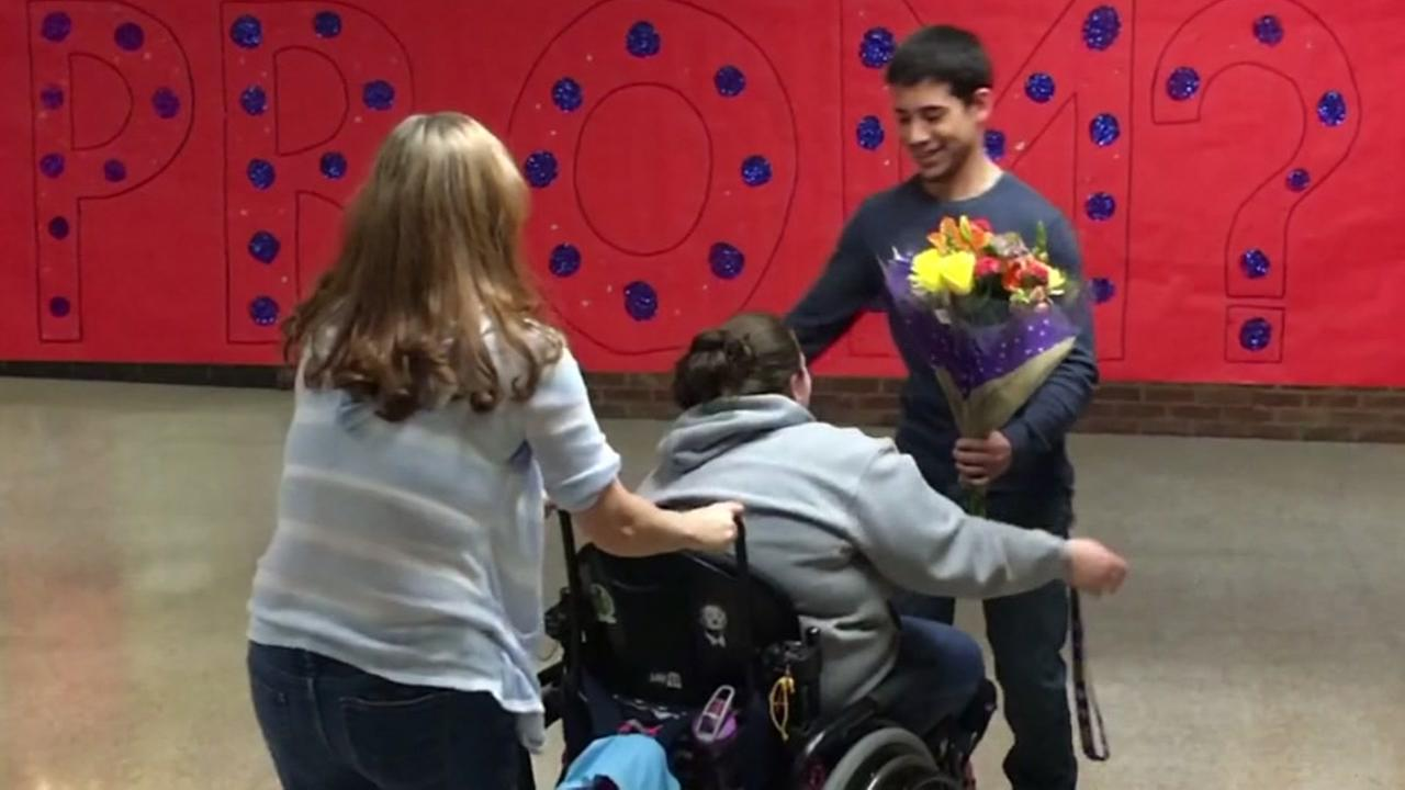 Special needs student prom proposal