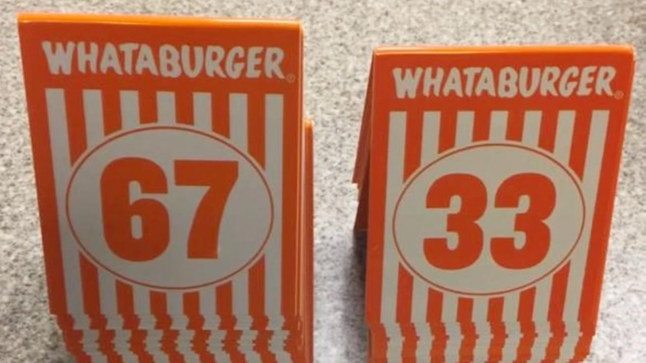 Young thieves sets sights on Whataburger table tents