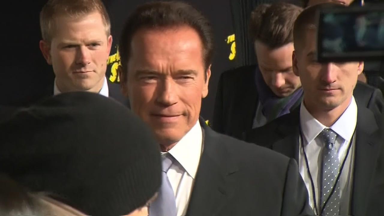 Arnold Schwarzenegger leaving the Apprentice