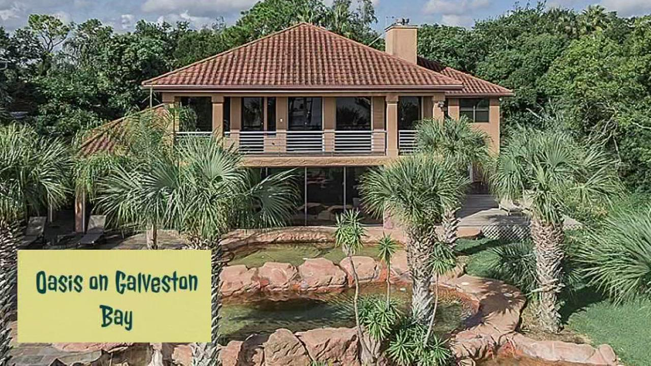 Check out this beautiful water front home on Galveston Bay