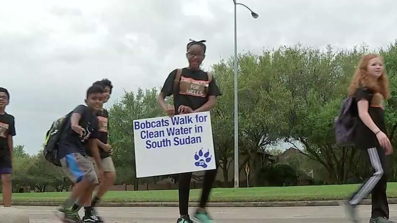 Students have Walk-A-Thon to raise money for South Sudan water wells