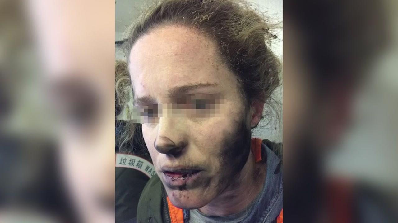 Womans headphones explodes in mid-flight