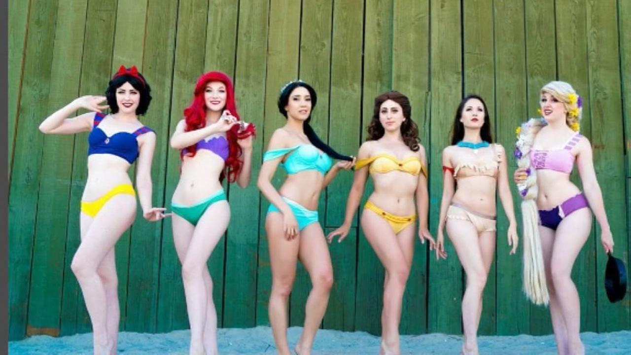 Disney princess-inspired bikinis are a hot item