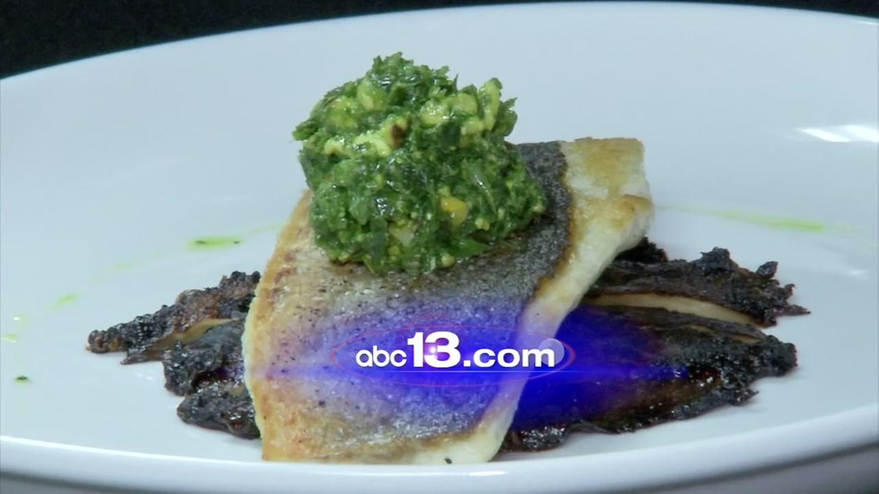 Lets Eat: Roasted bronzino with portobello from Lucilles