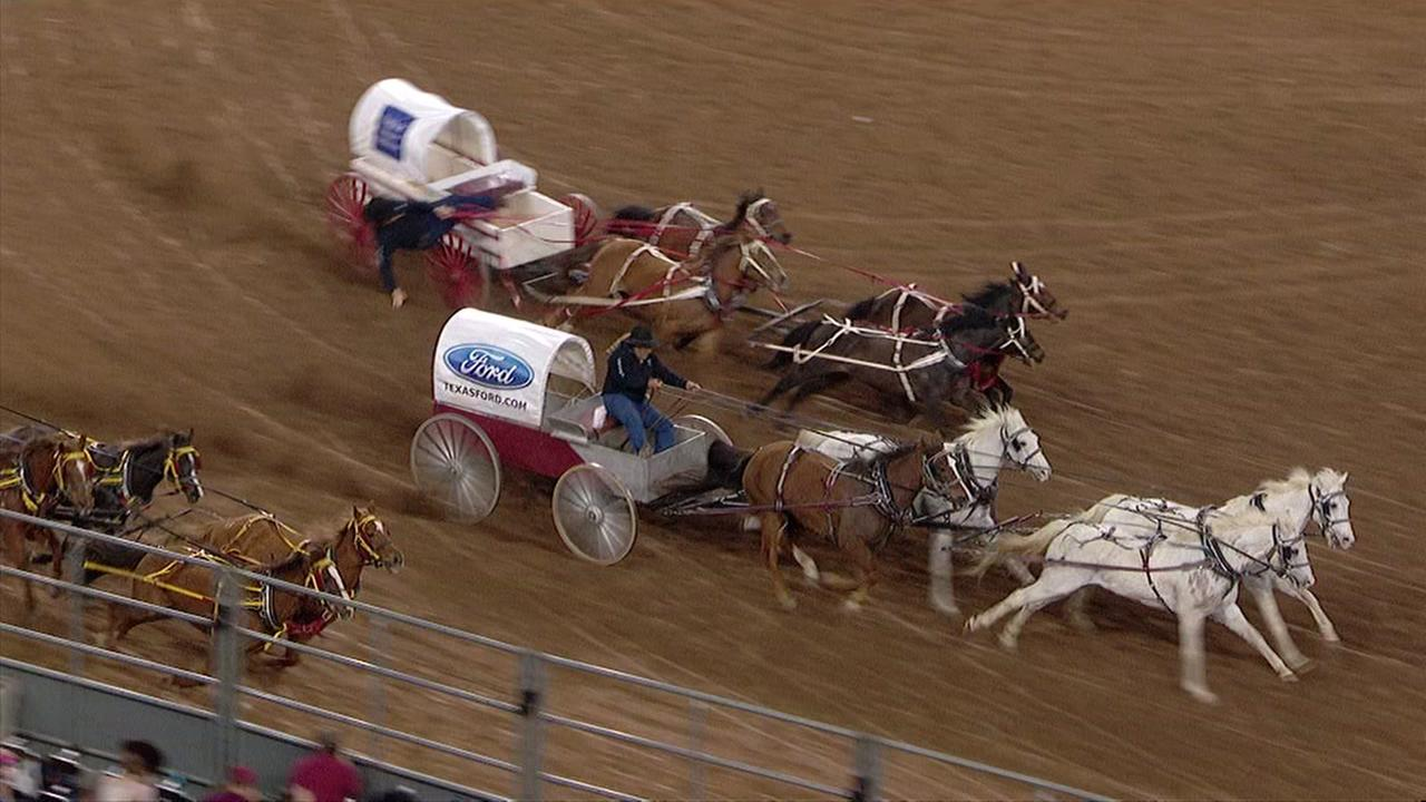 Rider down at chuck wagon races