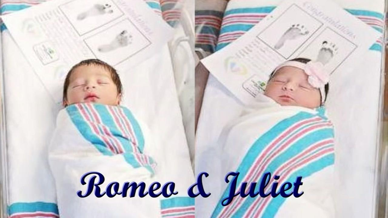 Babies, Romeo and Juliet born hours apart in same hospital