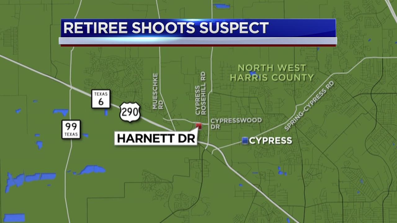 Retired officer shoots masked neighbor in Cypress