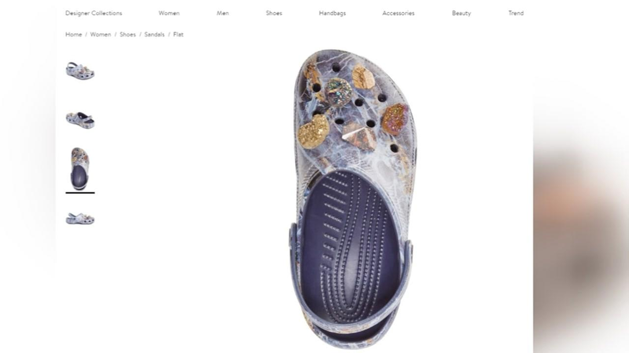 Ne$375 Nordstrom crocs designed with sparkly crystals and stonesw Keyword
