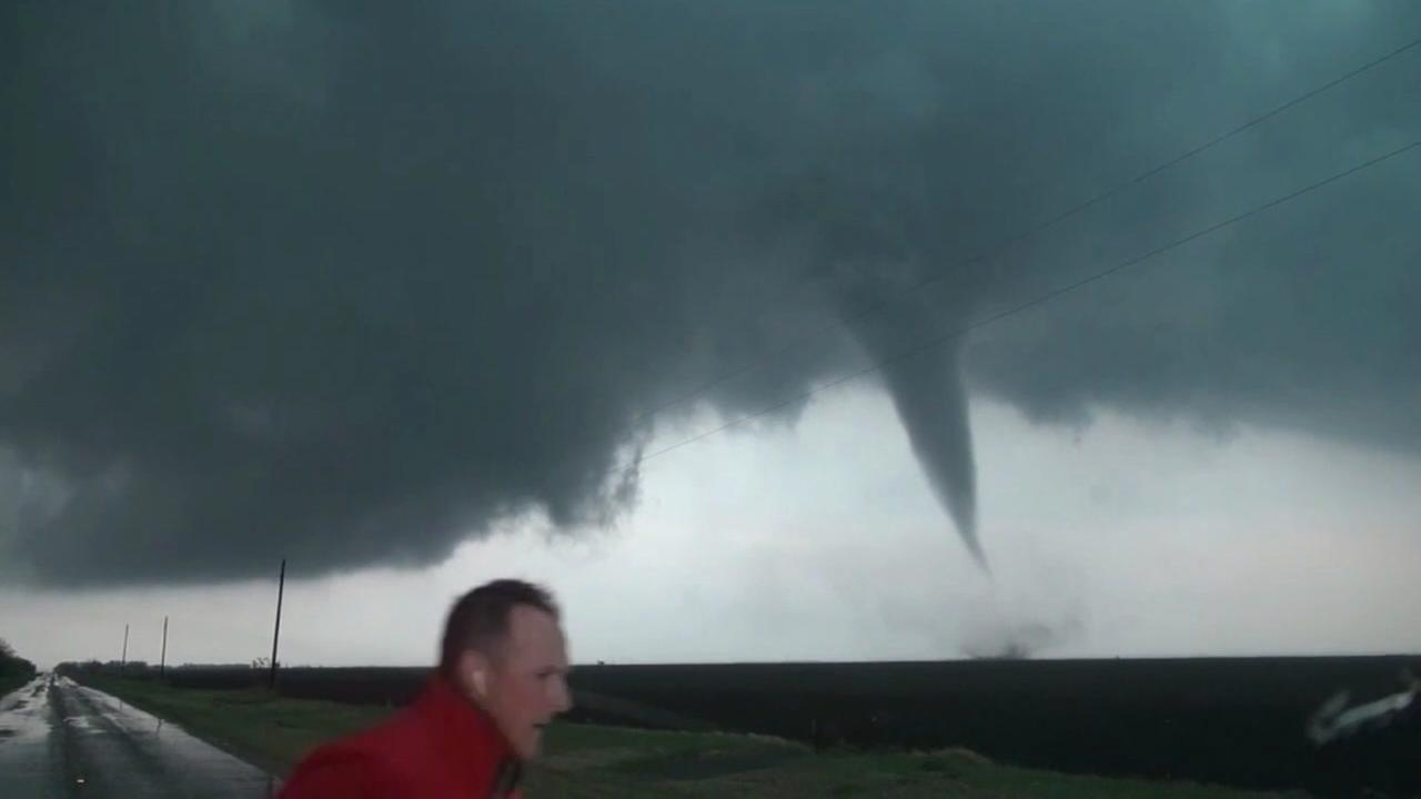 Raw video: Storm chasers spot tornado in Abilene
