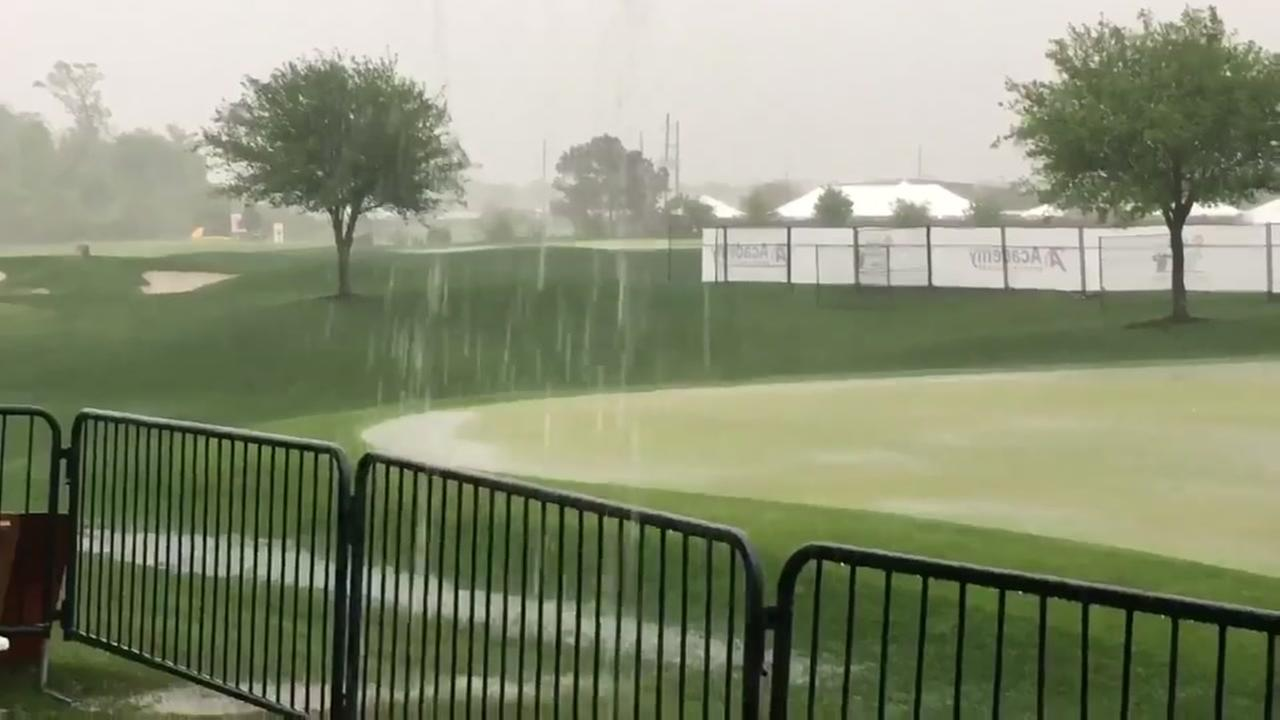 Heavy rains prompt delay at Shell Houston Open