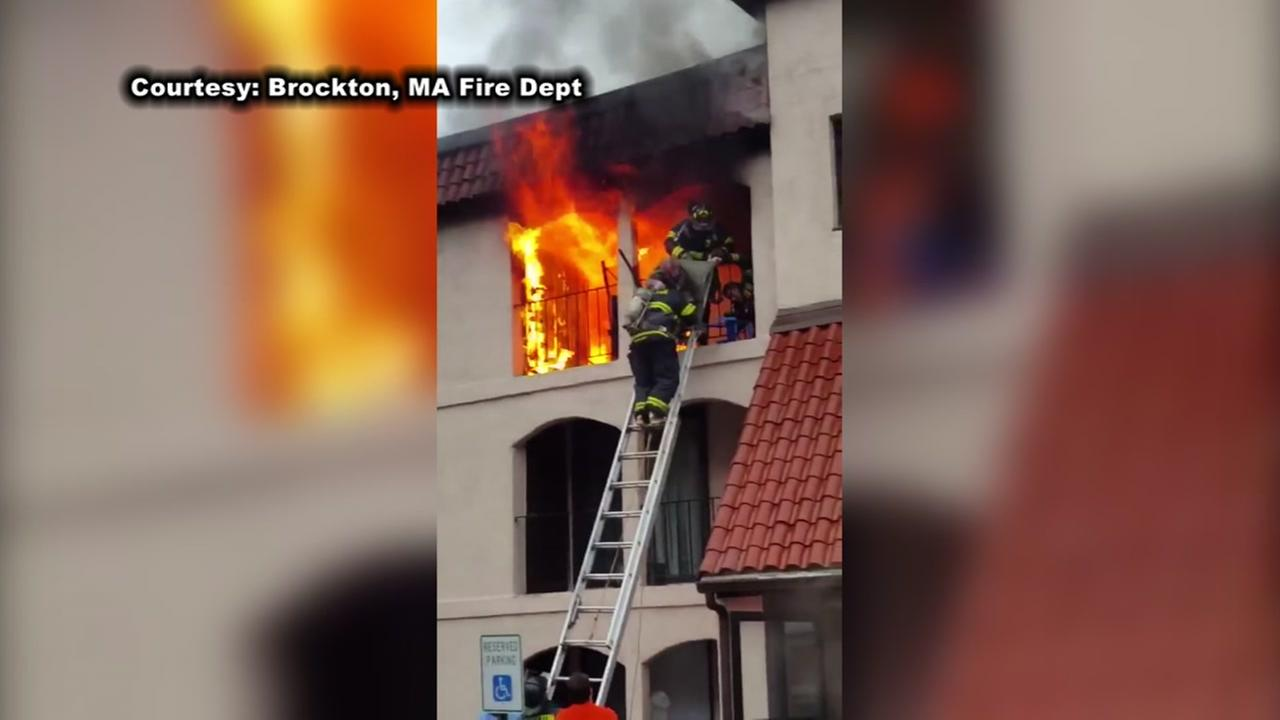 VIDEO: Daring firefighters rescue elderly man